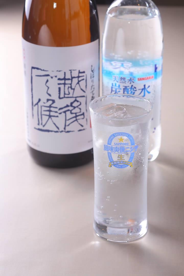 日本酒八海山『越後で候』ソーダ割り